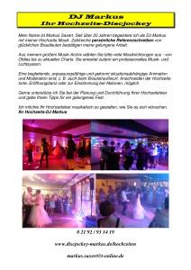 DJ Markus - Vorstellung Hochzeit NEU.